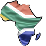 Map - with South African flag